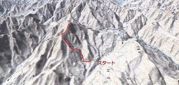 雨飾山(左ルート)鳥瞰図.jpg